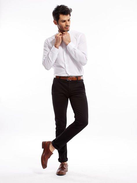 Czarne spodnie męskie slim fit                              zdj.                              12