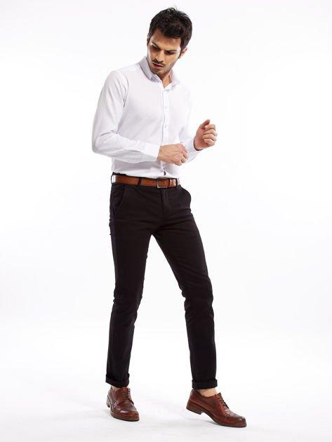 Czarne spodnie męskie slim fit                              zdj.                              16
