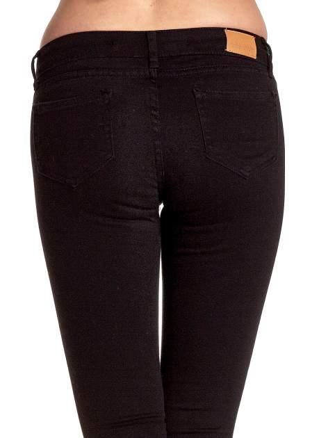 Czarne spodnie typu skinny z elastycznego materiału                                  zdj.                                  7