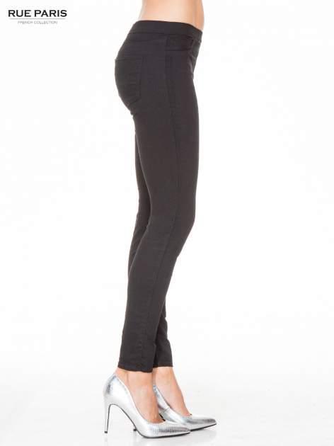 Czarne spodnie typu tregginsy z kieszeniami                                  zdj.                                  3