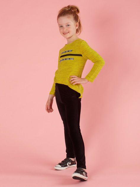 Czarne sztruksowe jegginsy dla dziewczynki                              zdj.                              4