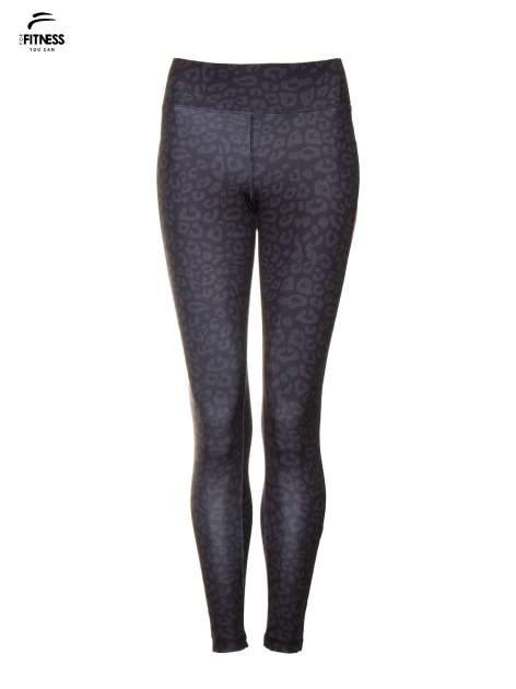 Czarne termoaktywne legginsy do biegania w panterkę z fluoróżowymi wstawkami po bokach ♦ Performance RUN                                  zdj.                                  5