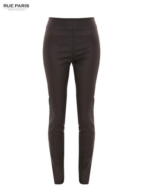 Czarne woskowane legginsy                                  zdj.                                  2