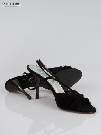 Czarne zamszowe szpilki faux suede                                  zdj.                                  4