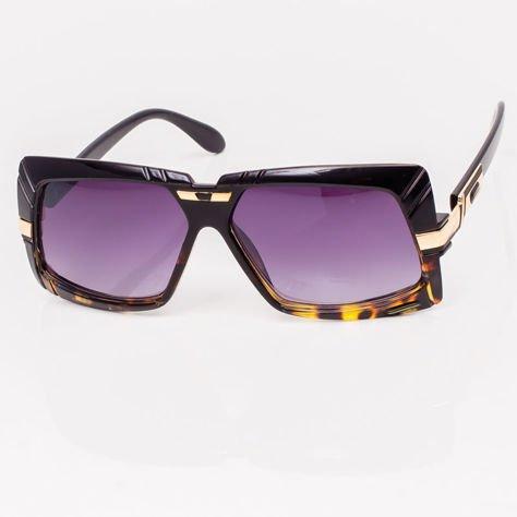 Czarno-Brązowe Okulary Przeciwsłoneczne                              zdj.                              2