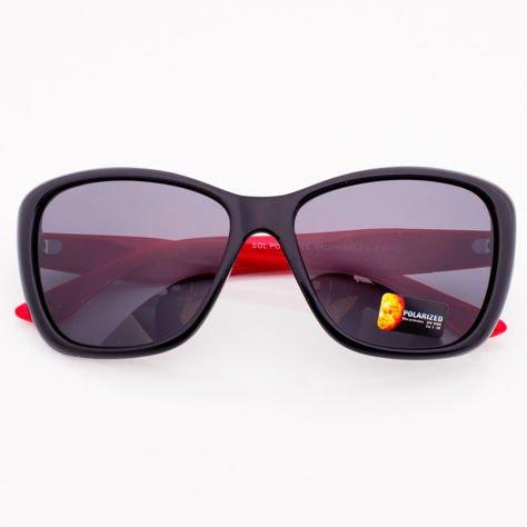 Czarno-Czerwone Damskie Okulary POLARYZACYJNE                               zdj.                              2