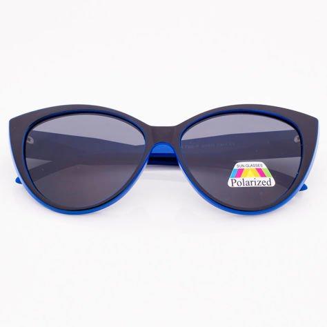 Czarno-Niebieskie Damskie Okulary POLARYZACYJNE CAT EYE                              zdj.                              1