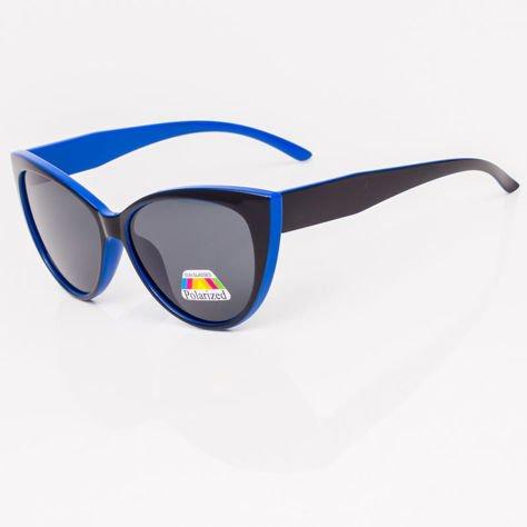 Czarno-Niebieskie Damskie Okulary POLARYZACYJNE CAT EYE                              zdj.                              3