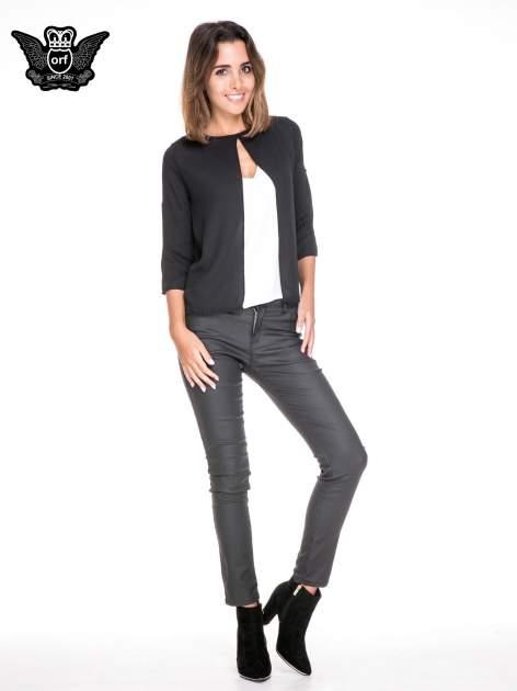 Czarno-biała dwuwarstwowa koszula o kroju narzutki                                  zdj.                                  2