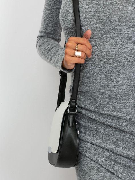 Czarno-biała elegancka listonoszka                              zdj.                              2