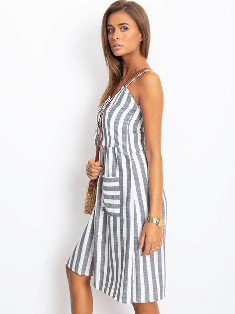 Czarno-biała sukienka Sartorial                              zdj.                              3