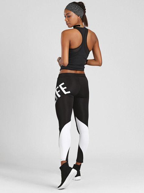 Czarno-białe legginsy TOMMY LIFE                              zdj.                              2
