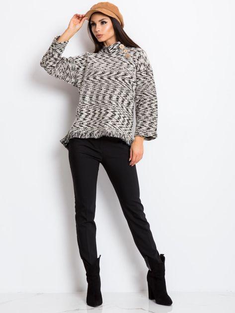 Czarno-biały sweter North                              zdj.                              4