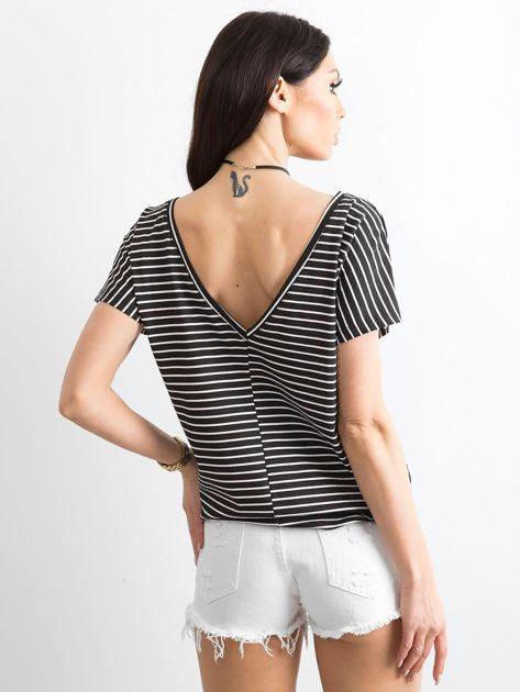 Czarno-biały t-shirt Morning                              zdj.                              2