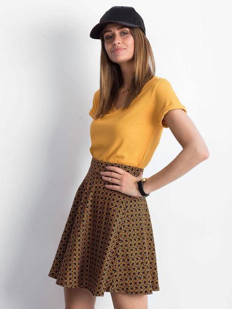 Czarno-brązowa spódnica Shiny                              zdj.                              3
