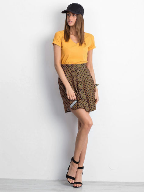 Czarno-brązowa spódnica Shiny                              zdj.                              4