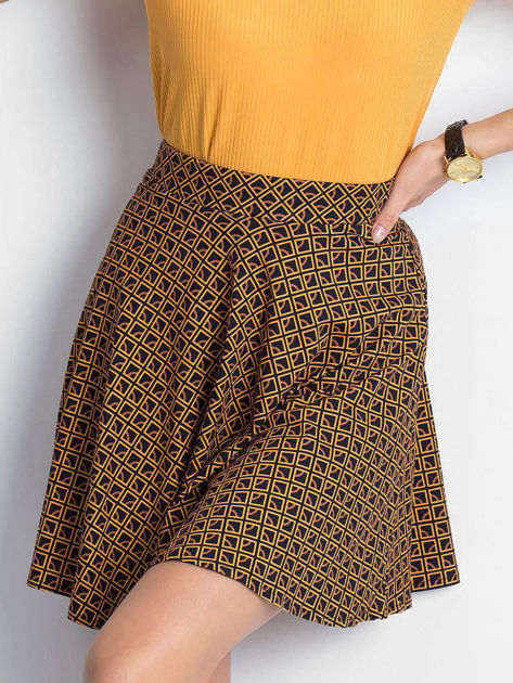 Czarno-brązowa spódnica Shiny                              zdj.                              1