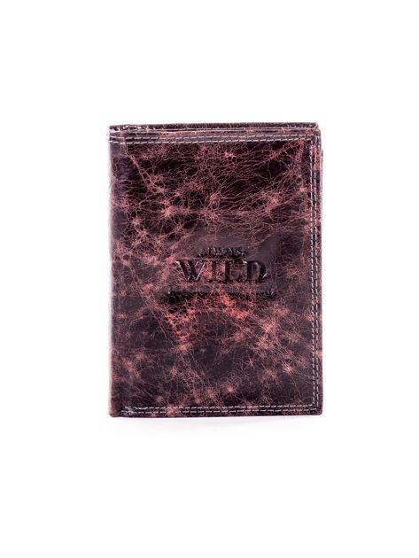Czarno-brązowy cieniowany portfel dla mężczyzny ze skóry                              zdj.                              1