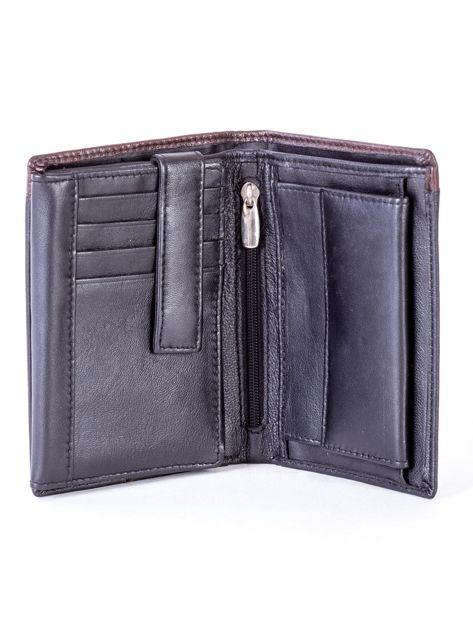 Czarno-brązowy portfel męski ze skóry                              zdj.                              4
