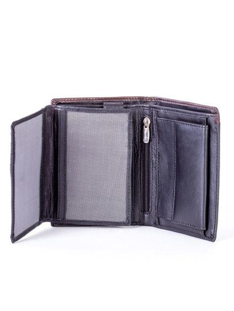 Czarno-brązowy portfel męski ze skóry                              zdj.                              5