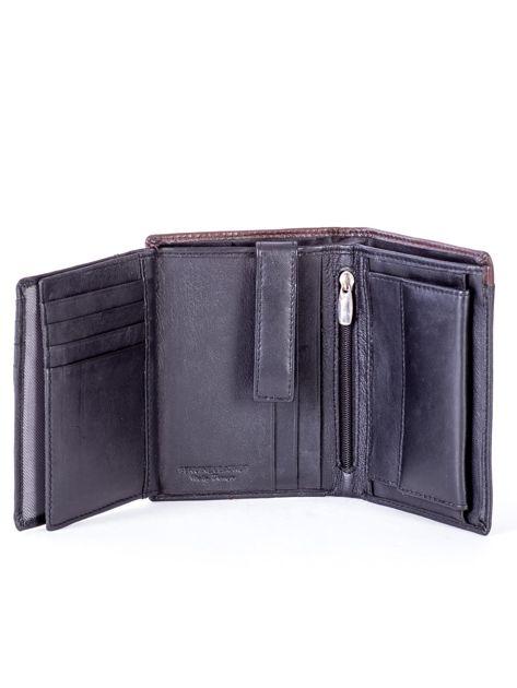 Czarno-brązowy portfel męski ze skóry                              zdj.                              6