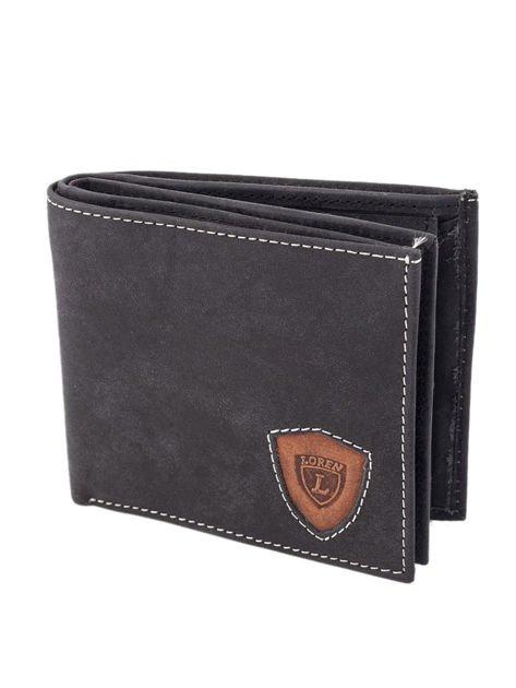 Czarno-brązowy portfel męski ze skóry naturalnej                              zdj.                              2