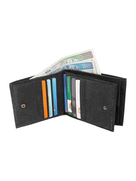 Czarno-brązowy portfel męski ze skóry naturalnej                              zdj.                              3
