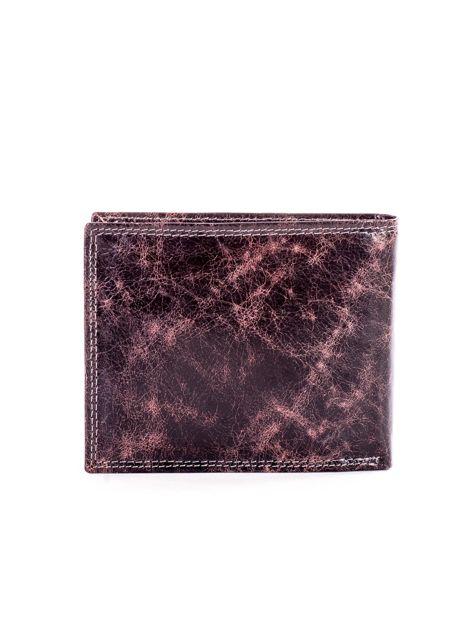 Czarno-brązowy skórzany portfel dla mężczyzny                              zdj.                              2