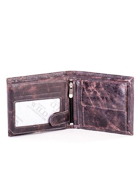Czarno-brązowy skórzany portfel dla mężczyzny                              zdj.                              4
