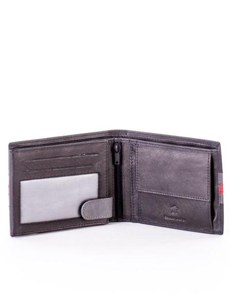 Czarno-czerwony portfel ze skóry naturalnej                               zdj.                              4