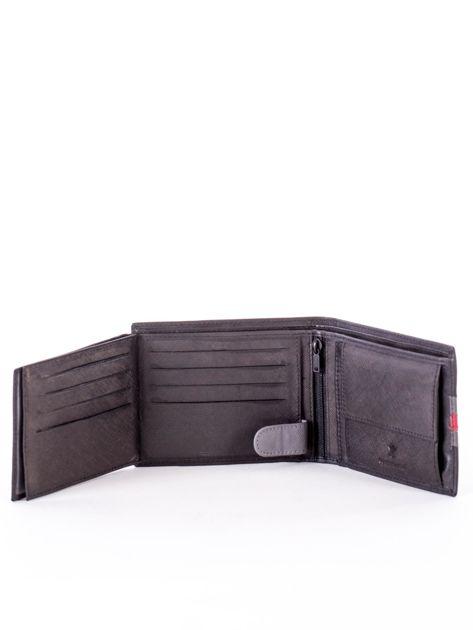 Czarno-czerwony portfel ze skóry naturalnej                               zdj.                              6