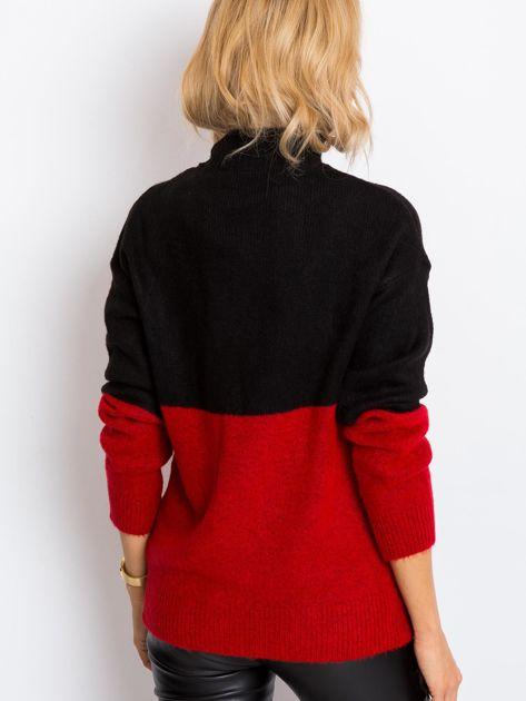 Czarno-czerwony sweter Taylor                              zdj.                              2