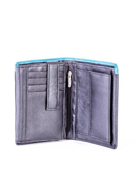 Czarno-niebieski portfel męski ze skóry                              zdj.                              4
