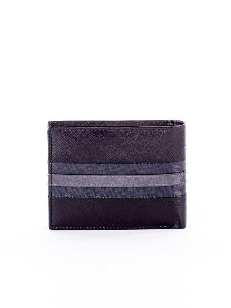 Czarno-niebieski portfel ze skóry naturalnej                               zdj.                              2