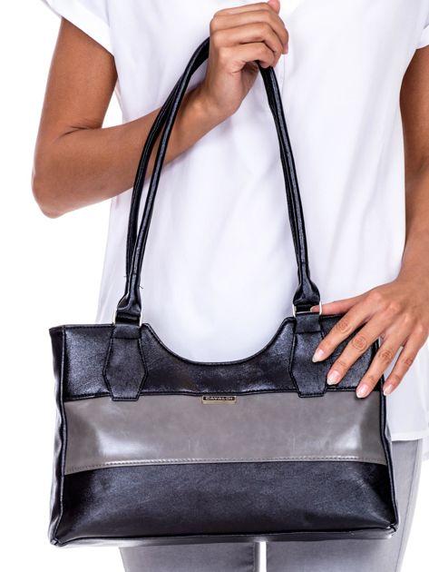 Czarno-szara torebka na ramię                               zdj.                              1