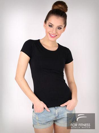 Czarny basicowy t-shirt For Fitness