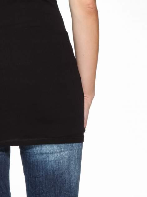 Czarny basicowy top na cienkich ramiączkach                                  zdj.                                  10