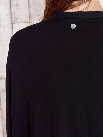 Czarny długi sweter z tiulowym wykończeniem                                  zdj.                                  6