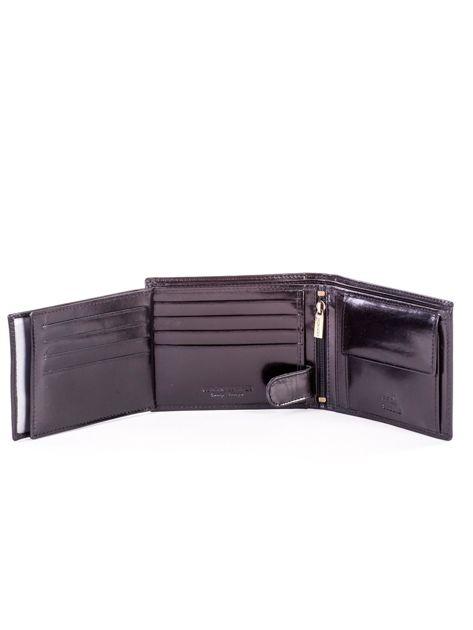 Czarny elegancki skórzany portfel męski                               zdj.                              6