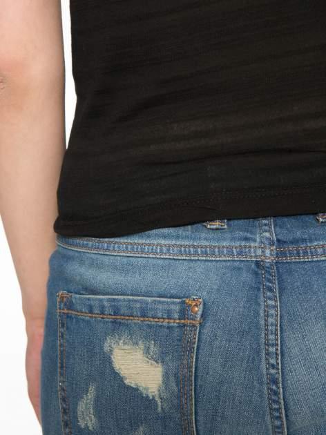 Czarny krótki t-shirt z napisem PARTY PERFECT FOREVER                                  zdj.                                  10