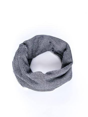 Czarny melanżowy szalik komin                                  zdj.                                  2