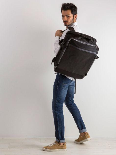 Czarny męski plecak podróżny                              zdj.                              4