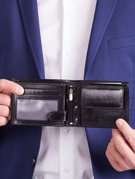 Czarny męski portfel poziomy                              zdj.                              8