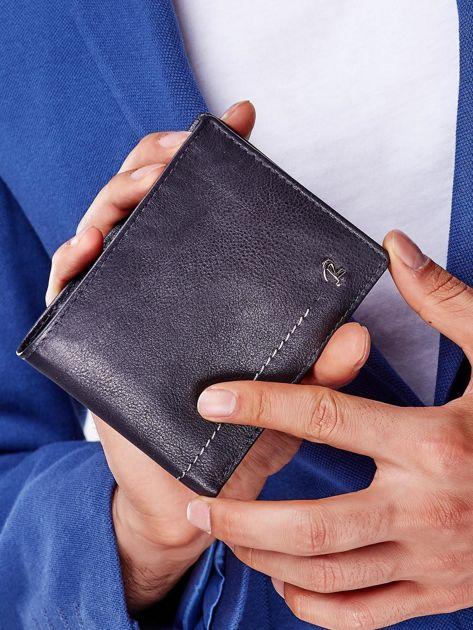Czarny miękki portfel męski skórzany                              zdj.                              1