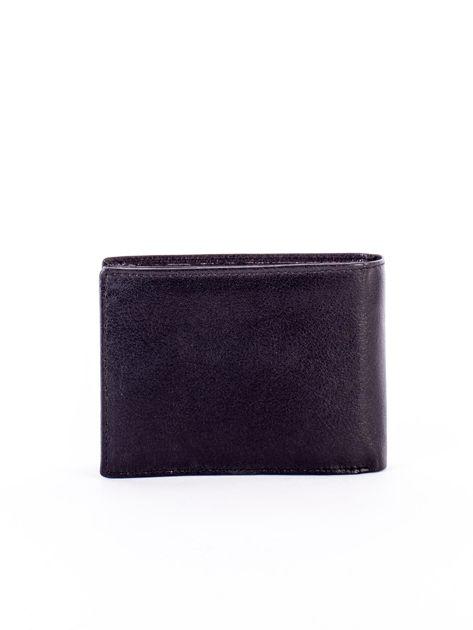 Czarny miękki portfel ze skóry naturalnej dla mężczyzny                              zdj.                              2