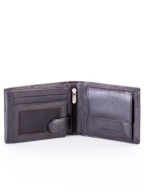 Czarny miękki portfel ze skóry naturalnej dla mężczyzny                              zdj.                              4