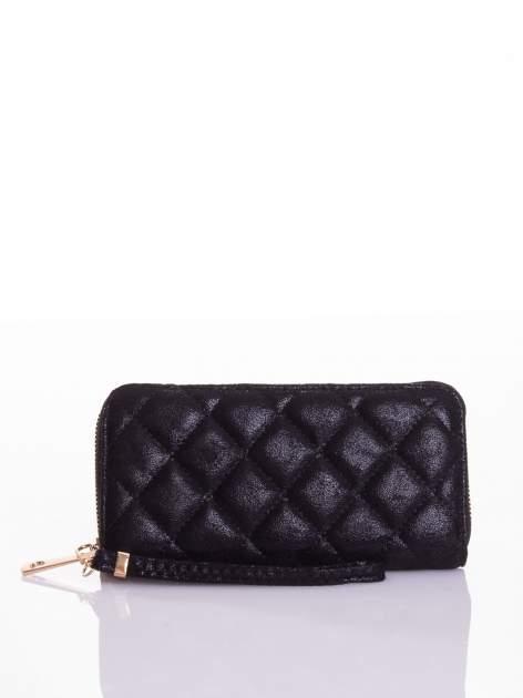 Czarny pikowany portfel                                  zdj.                                  4