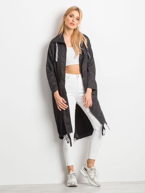 Czarny płaszcz Flatscreen                              zdj.                              1