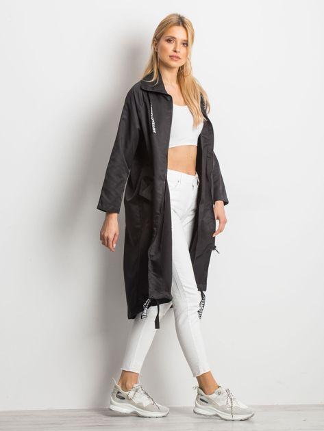 Czarny płaszcz Flatscreen                              zdj.                              3