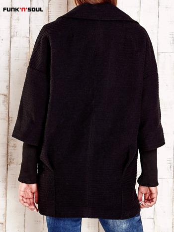 Czarny płaszcz oversize FUNK N SOUL                                  zdj.                                  4